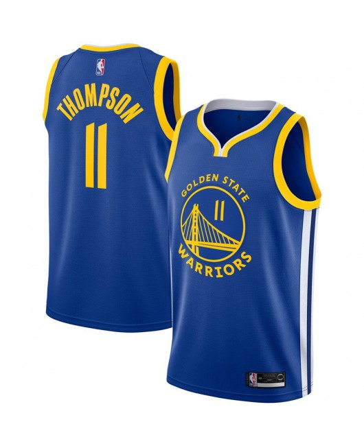 Men's Golden State Warriors Thompson Engro sports Royal Jersey