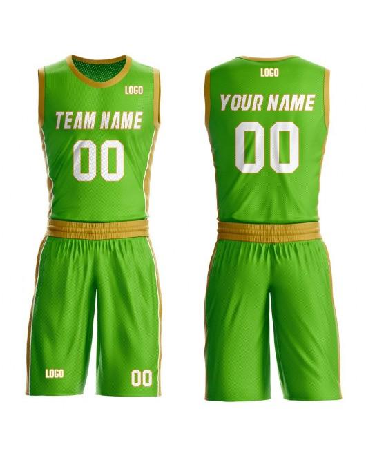 Custom Basketball Jerseys Set Design Names Numbers and Logo Aqua and Gold