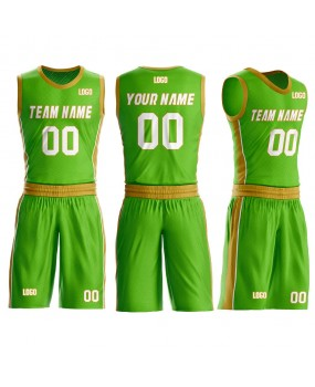 Custom Basketball Jerseys Set Design Names Numbers and Logo Aqua and Gold