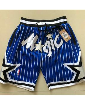 Basketball Shorts 4 Pockets Orlando Magic Blue Retro Men